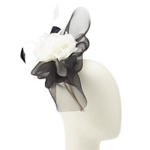 Buy John Lewis Jennifer Fascinator, Black/White Online at johnlewis.com