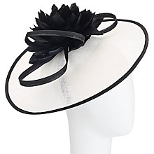 Buy John Lewis Sandra Sinamay Disc Occasion Hat, Black/White Online at johnlewis.com