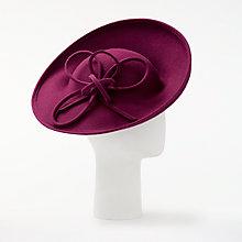 Buy Whiteley Tanza Side Up Occasion Hat, Amethyst Online at johnlewis.com