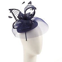 Buy John Lewis Adele Sinamay Pillbox Fascinator, Navy Online at johnlewis.com