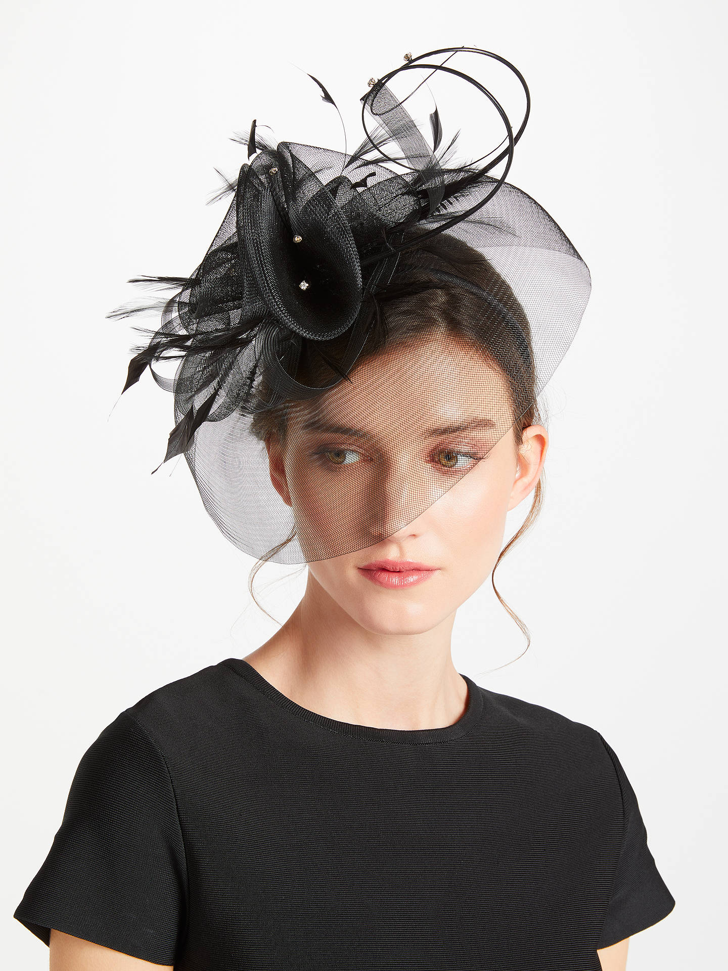 BuyJohn Lewis & Partners Crin Diamante Fascinator, Black Online at johnlewis.com