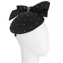 Buy John Lewis Emma Felt Pillbox Fascinator, Black Online at johnlewis.com