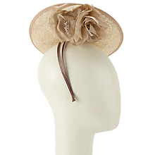 Buy John Lewis Kate Sequin Disc Fascinator, Rose Gold Online at johnlewis.com