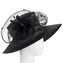 Buy John Lewis Meryl Shantung Occasion Hat, Black Online at johnlewis.com