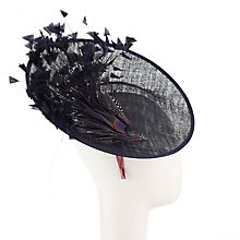 Buy John Lewis Sophia Up Turn Disc Occasion Hat, Navy Online at johnlewis.com