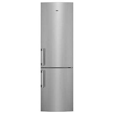 AEG RCB53725MX CustomFlex Fridge Freezer, A++ Energy Rating, 60cm Wide, Stainless Steel