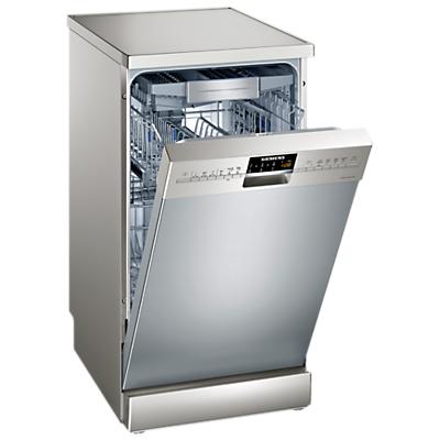 Image of Siemens SR26T897EU Freestanding Slimline Dishwasher, Stainless Steel