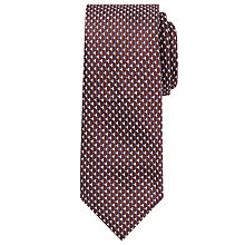 Buy John Lewis Triangle Silk Tie, Burgundy/Navy Online at johnlewis.com