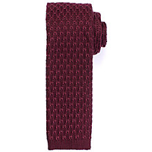 Buy Kin by John Lewis Large Knit Tie, Claret Online at johnlewis.com