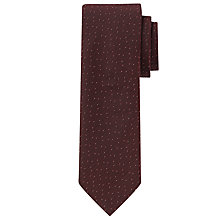 Buy John Lewis Flecked Silk Tie, Burgundy/White Online at johnlewis.com