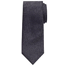 Buy John Lewis Textured Wool Silk Tie, Grey Online at johnlewis.com