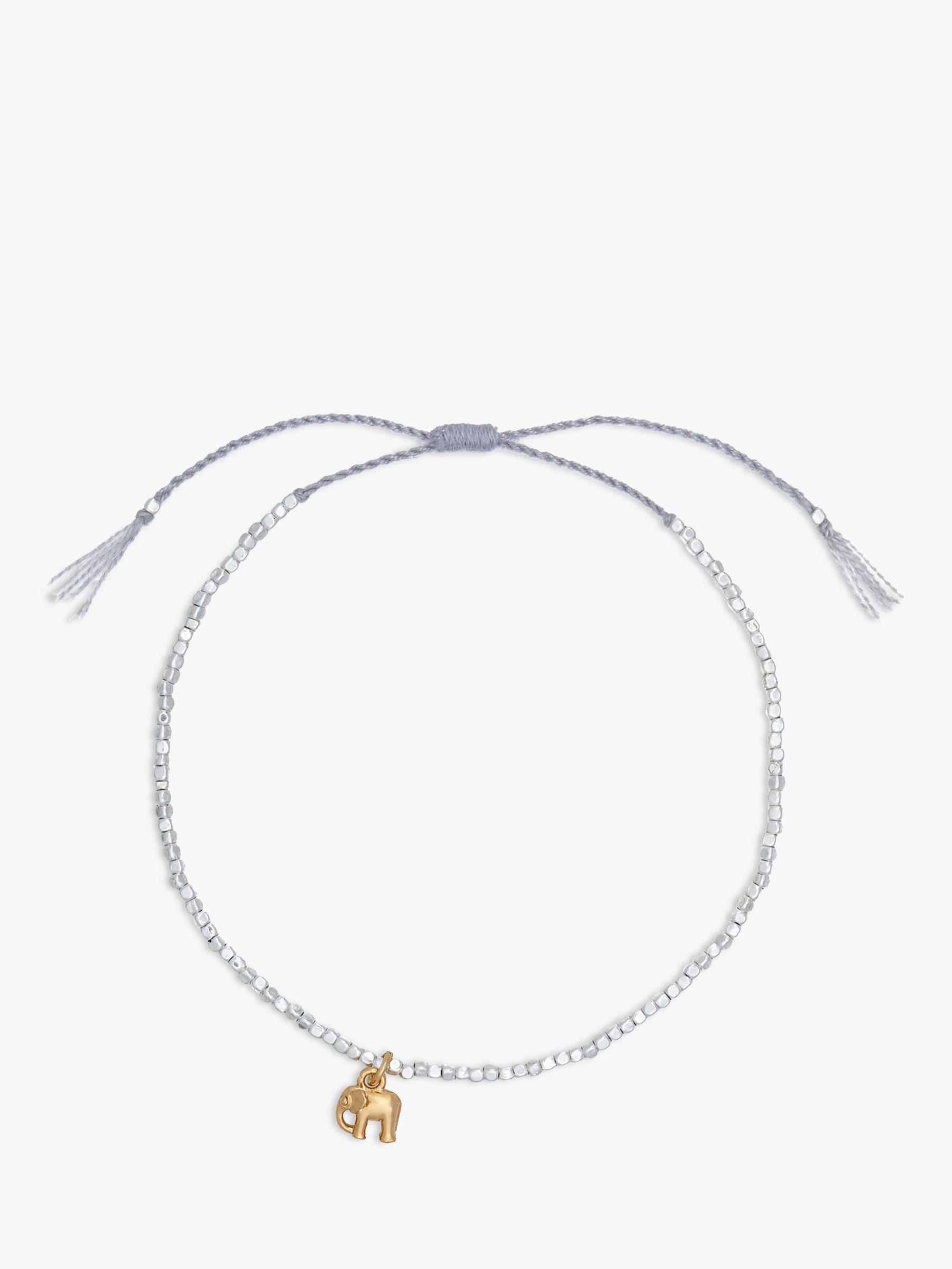 Estella Bartlett Estella Bartlett Louise Elephant Charm Bracelet, Silver/Gold