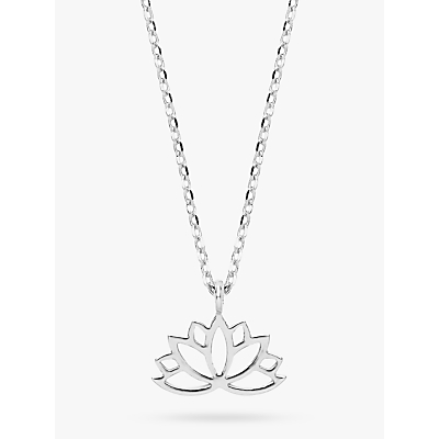 Estella Bartlett Lotus Leaf Pendant Necklace, Silver