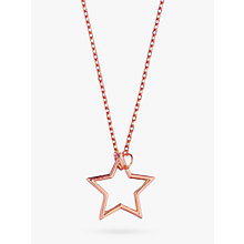 Buy Estella Bartlett Open Star Pendant Necklace, Rose Gold Online at johnlewis.com