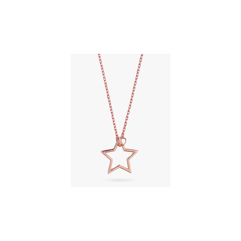 Estella bartlett open star pendant necklace rose gold at john lewis buyestella bartlett open star pendant necklace rose gold online at johnlewis mozeypictures Choice Image
