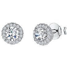 Buy Jools by Jenny Brown Cubic Zirconia Circular Studded Earrings, Silver Online at johnlewis.com