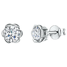 Buy Jools by Jenny Brown Cubic Zirconia Scalloped Stud Earrings, Silver Online at johnlewis.com