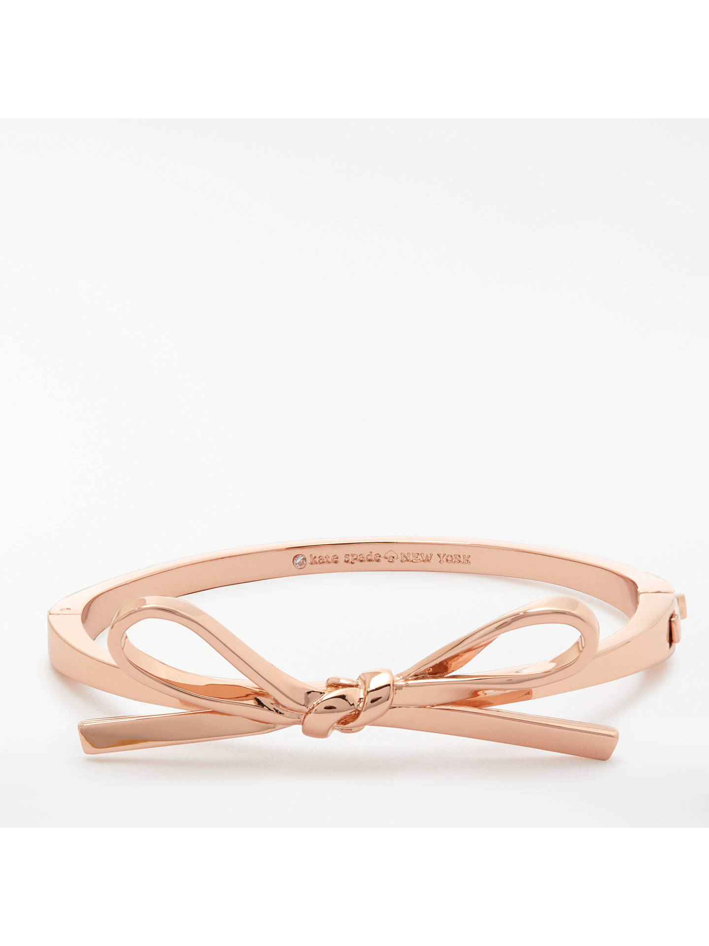 aade7401e87e Buy kate spade new york Bow Bangle, Rose Gold Online at johnlewis.com ...