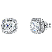 Buy Jools by Jenny Brown Cubic Zirconia Double Diamonte Sqaure Stud Earrings Online at johnlewis.com
