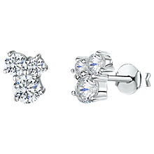 Buy Jools by Jenny Brown Triple Cubic Zirconia Cluster Stud Earrings, Silver/Clear Online at johnlewis.com