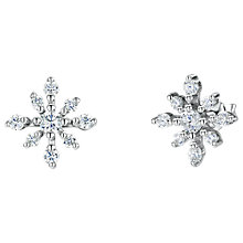 Buy Jools by Jenny Brown Cubic Zirconia Snowflake Stud Earrings, Silver Online at johnlewis.com