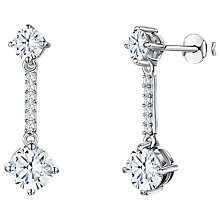Buy Jools by Jenny Brown Cubic Zirconia Bar Drop Earrings, Silver Online at johnlewis.com