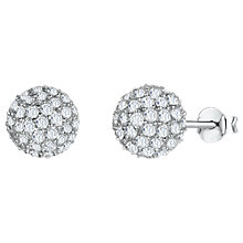 Buy Jools by Jenny Brown Cubic Zirconia Bouquet Stud Earrings, Silver Online at johnlewis.com