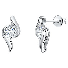 Buy Jools by Jenny Brown Cubic Zirconia Relaxed Z Drop Earrings, Silver Online at johnlewis.com