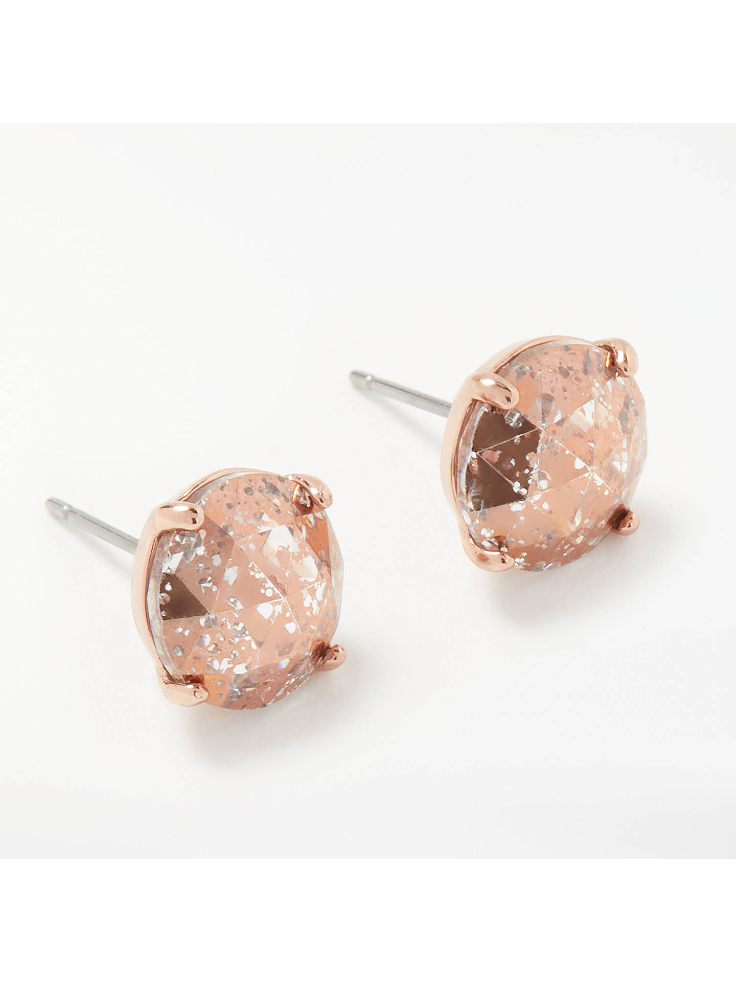 53680034499c4 kate spade new york Round Stud Earrings, Rose Gold/Pink Glitter at ...