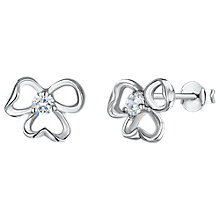 Buy Jools by Jenny Brown Cubic Zirconia Tri-Stemmed Stud Earrings, Silver Online at johnlewis.com