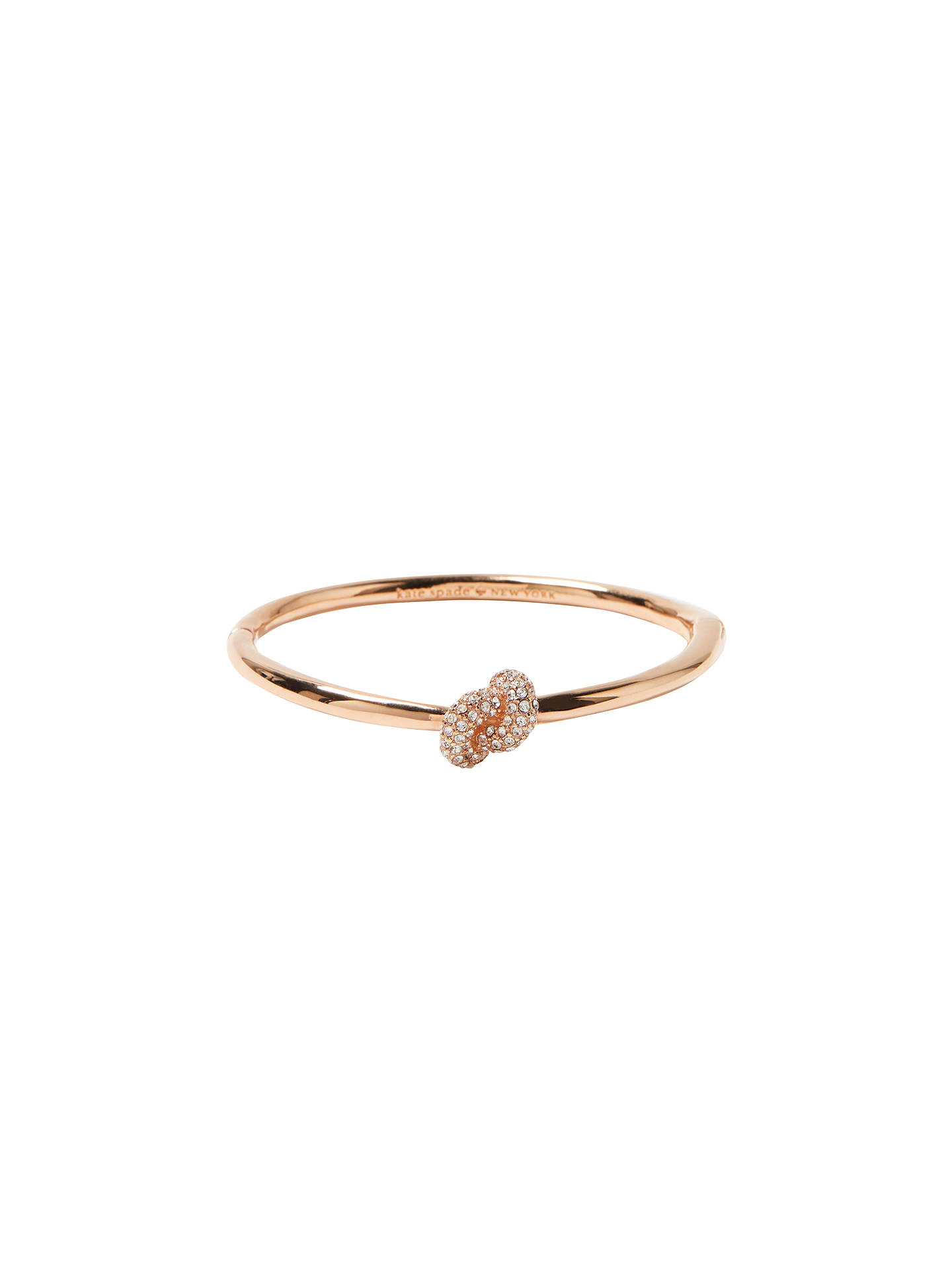 7813aa2b0 Buy kate spade new york Swarovski Crystal Sailors Knot Pave Hinge Bangle,  Rose Gold Online ...