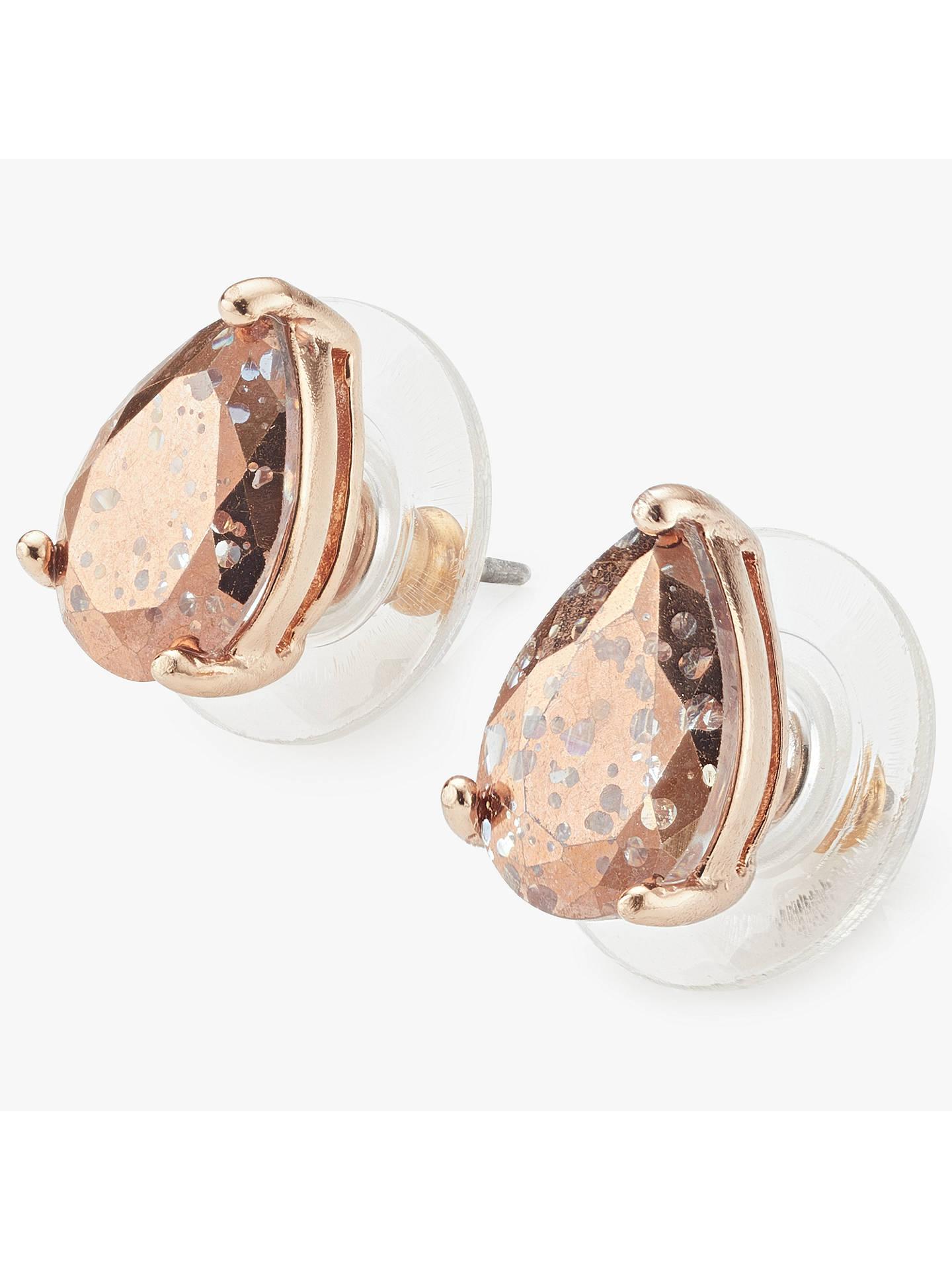 kate spade new york Teardrop Stud Earrings, Rose Gold/Pink Glitter ...