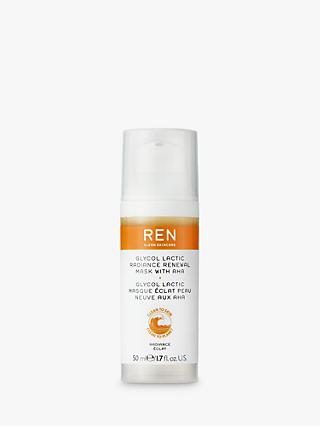 REN Clean Skincare Glycol Lactic Radiance Renewal Mask, 50ml