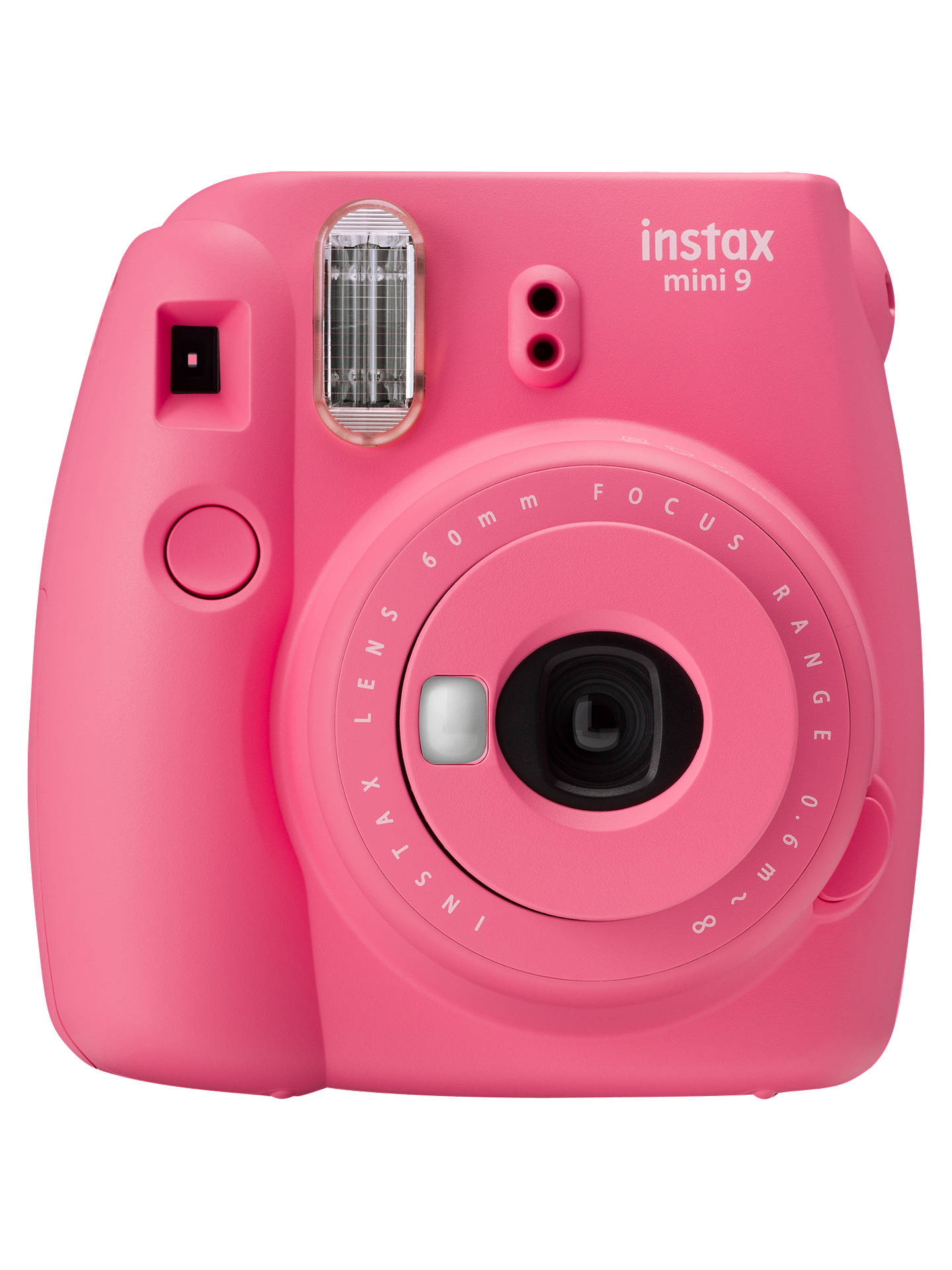 BuyFujifilm Instax Mini 9 Instant Camera with 10 Shots of Film, Built-In Flash & Hand Strap, Flamingo Pink Online at johnlewis.com