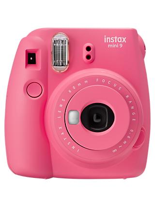 Fujifilm Instax Mini 9 Instant Camera with 10 Shots of Film, Built-In Flash & Hand Strap