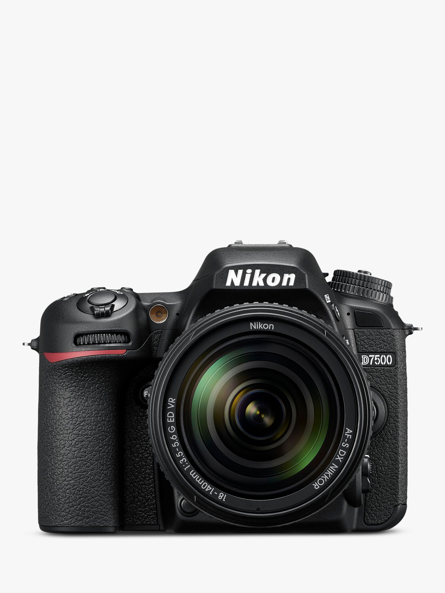 Nikon Nikon D7500 DSLR Camera with AF-S 18-140mm VR Lens, 20.9 MP, 4K UHD, Wi-Fi, Bluetooth, 3.2 Tiltable Touch Screen, Black