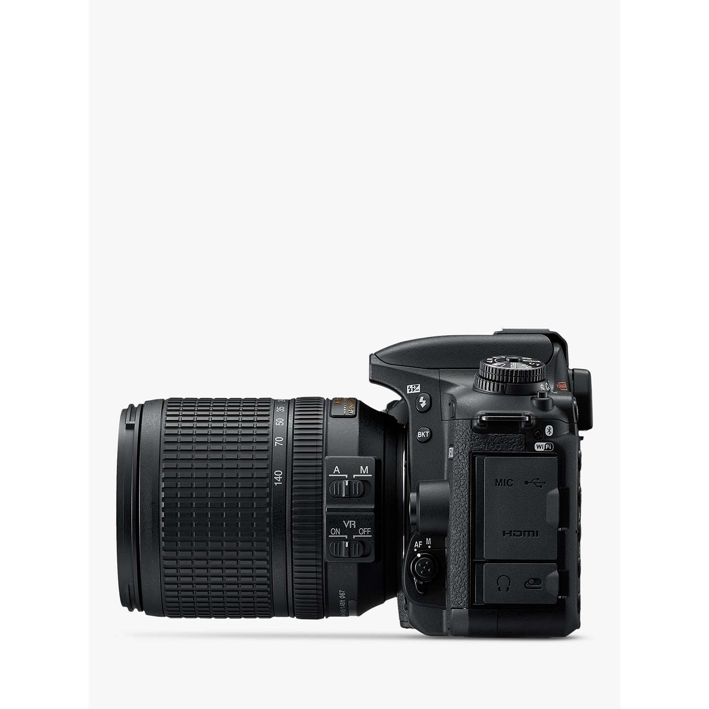 "BuyNikon D7500 DSLR Camera with AF-S 18-140mm VR Lens, 20.9 MP, 4K UHD, Wi-Fi, Bluetooth, 3.2"" Tiltable Touch Screen, Black Online at johnlewis.com"