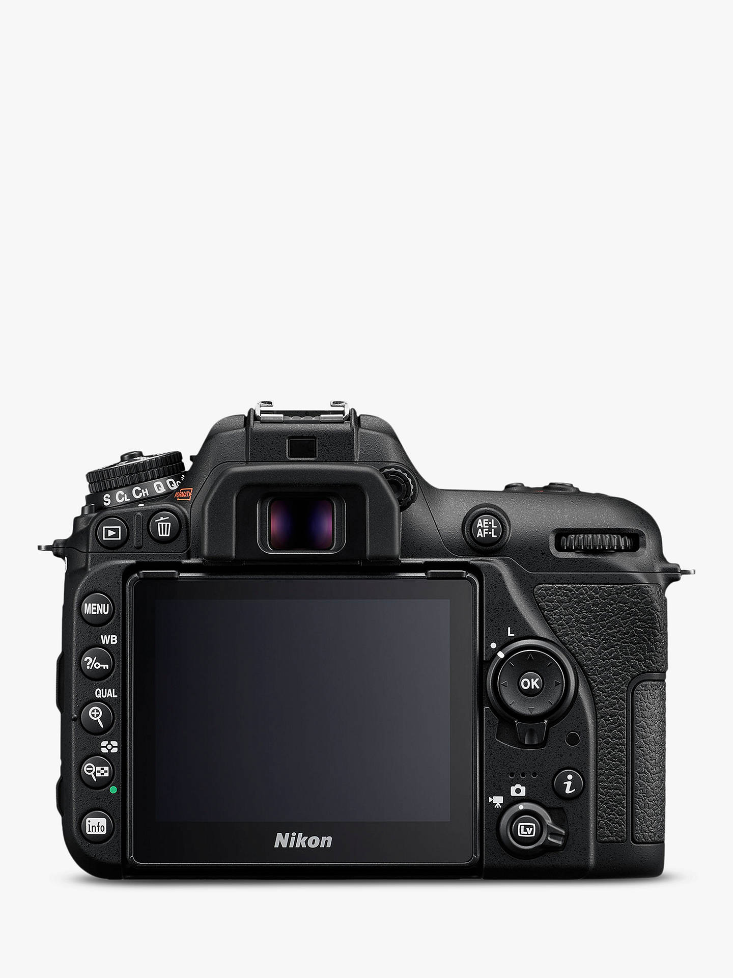 "Buy Nikon D7500 DSLR Camera, 20.9 MP, 4K UHD, Wi-Fi, Bluetooth, 3.2"" Tiltable Touch Screen, Body Only, Black Online at johnlewis.com"