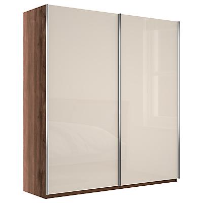 John Lewis & Partners Elstra 200cm Wardrobe with Glass Sliding Doors