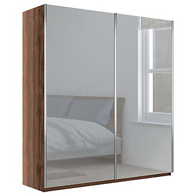 John Lewis & Partners Elstra 200cm Wardrobe with Mirrored Sliding Doors
