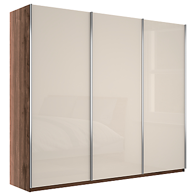John Lewis Elstra 250cm Wardrobe with Glass Sliding Doors