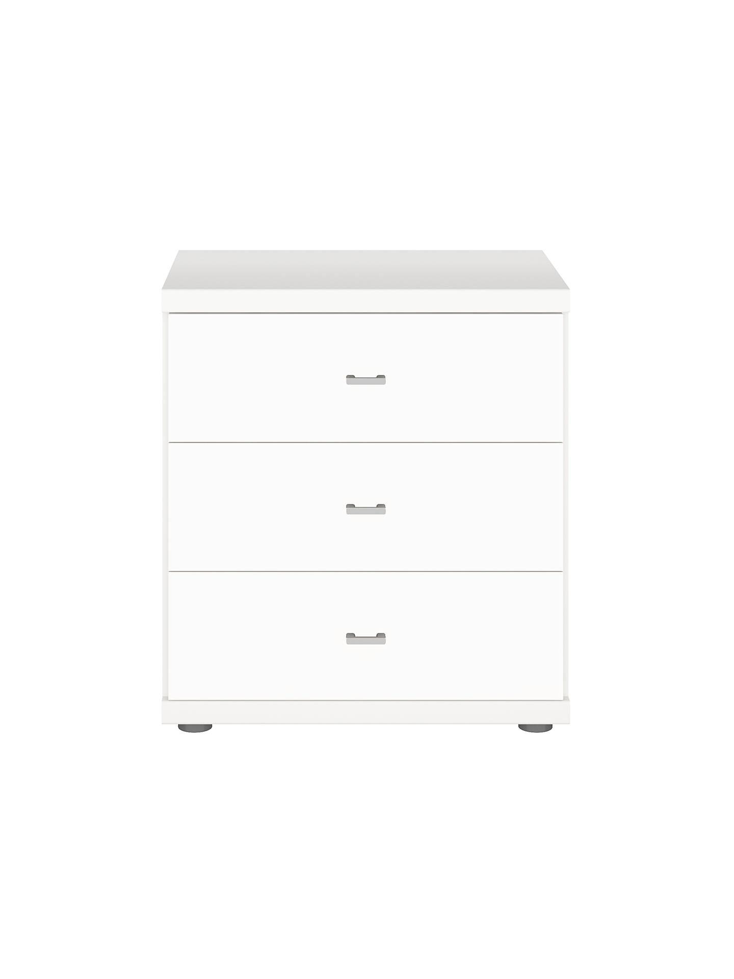 6e4bb069ee7d ... Buy John Lewis & Partners Elstra 3 Drawer Bedside Table, Alpine White  Online at johnlewis