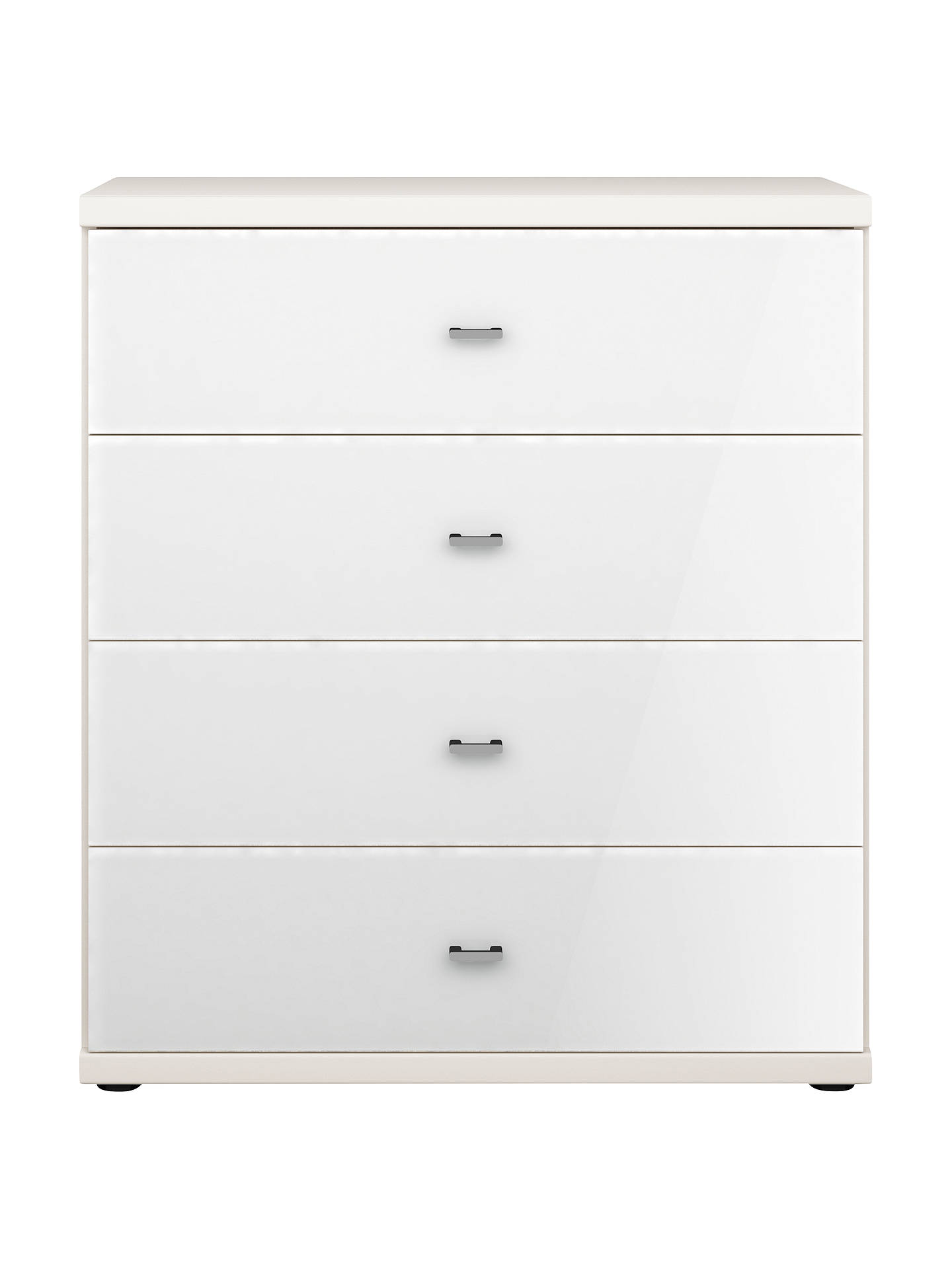 BuyJohn Lewis & Partners Elstra 4 Drawer Glass Front Chest, White Glass/Alpine White Online at johnlewis.com