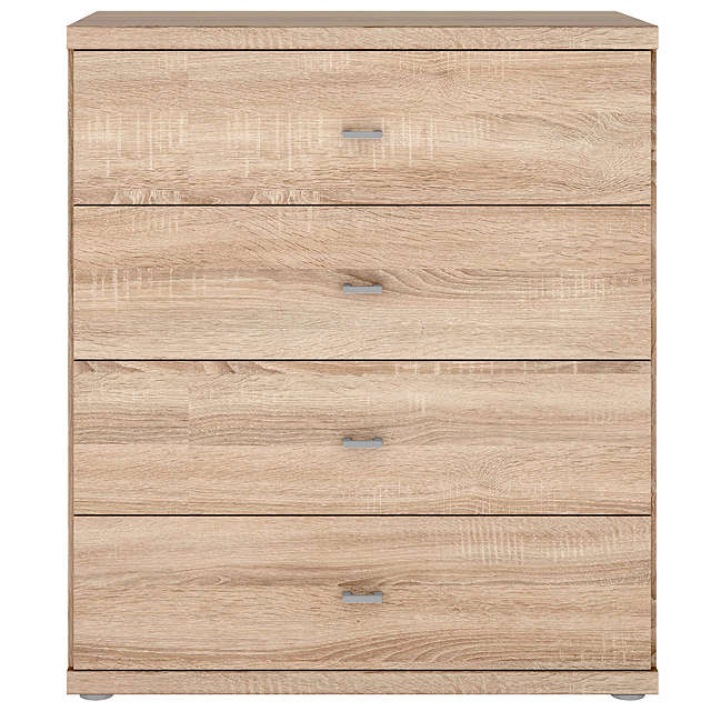 BuyJohn Lewis Elstra 4 Drawer Chest, Light Rustic Oak Online at johnlewis.com