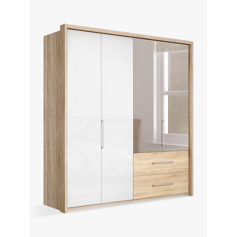 john lewis satis combi storage 200cm wardrobe with glass. Black Bedroom Furniture Sets. Home Design Ideas