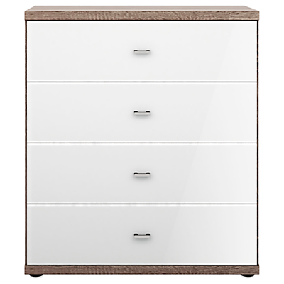John Lewis Treviso 4 Drawer Glass Front Chest
