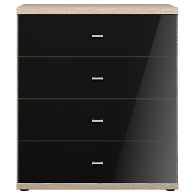 John Lewis & Partners Treviso 4 Drawer Glass Front Chest