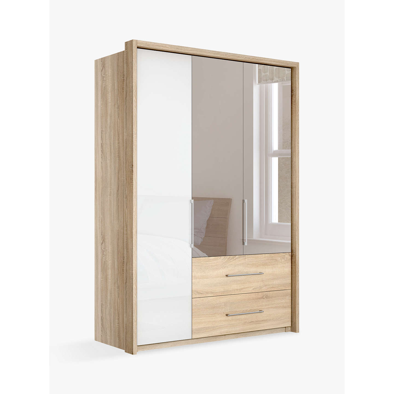John Lewis Satis Combi Storage 150cm Wardrobe With Glass