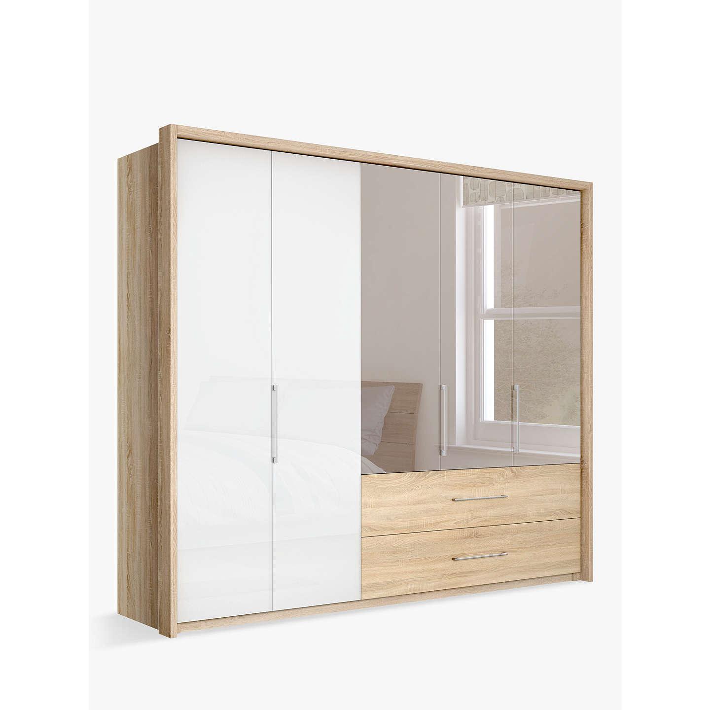 john lewis satis combi storage 250cm wardrobe with glass. Black Bedroom Furniture Sets. Home Design Ideas