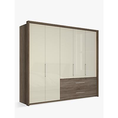John Lewis & Partners Satis Combi Storage 250cm Wardrobe with Glass Hinged Doors